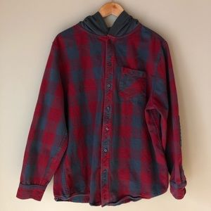 Tony Hawk hooded flannel